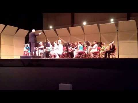 LeBlanc Middle School stage performance - District Competition, song 2