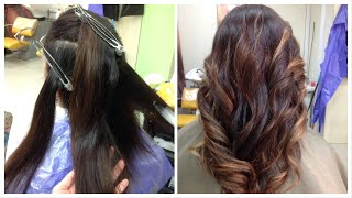 видео Модное окрашивание балаяж на темные волосы (50 фото)