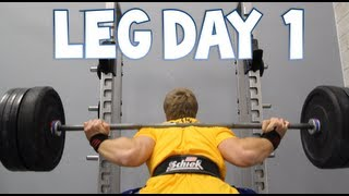 Leg Workout - Back Squats, Lunges, Front Squats | Furious Pete