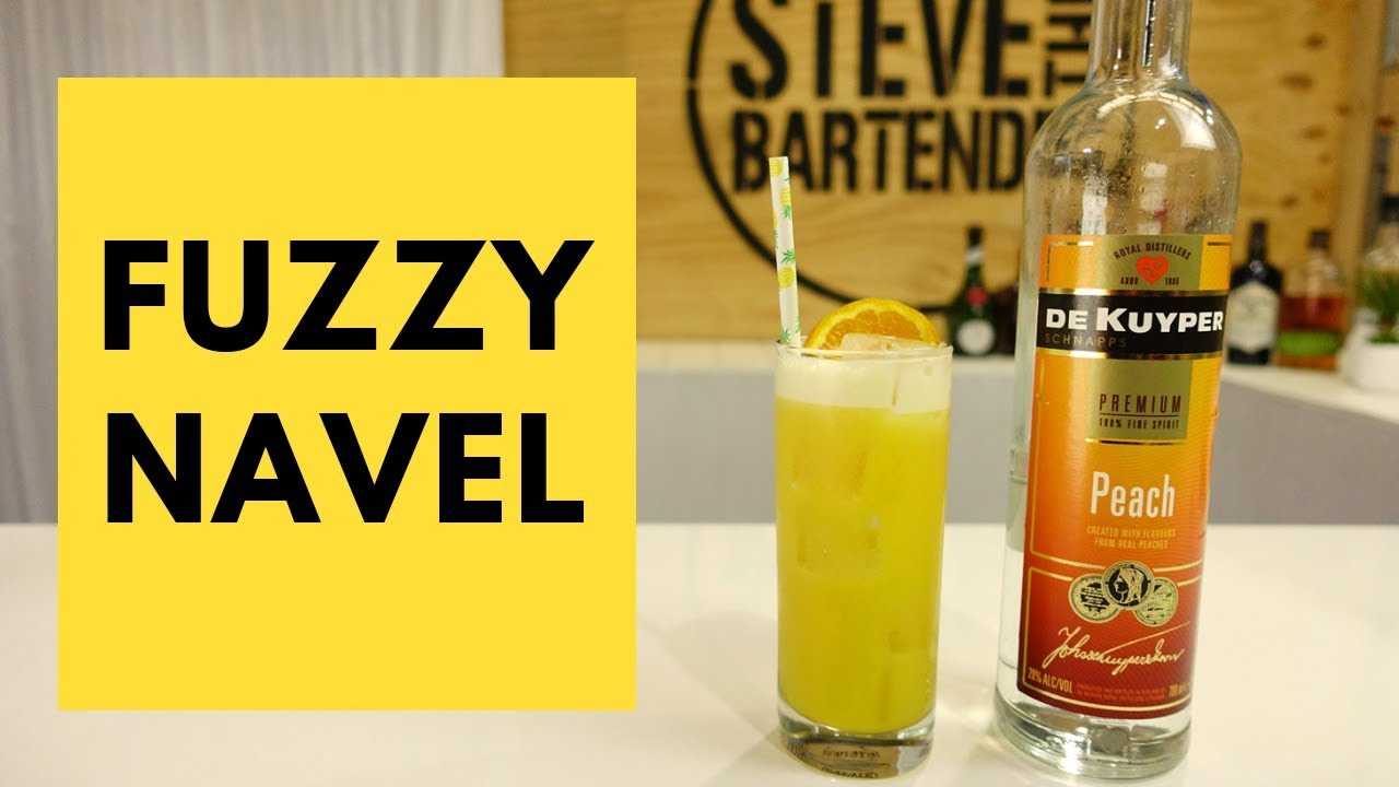 80s Cocktails Fuzzy Navel Cocktail Recipe Youtube