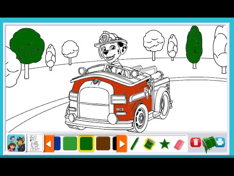 Nick Jr Coloring Pages Paw Patrol Youtube