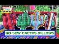 How to: No-Sew Cactus Pillows
