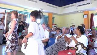 Ethiopian girls dancing at youth center in Israel