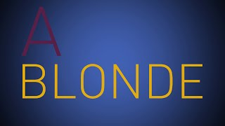 Blonde by Bridgit Mendler Lyrics Video- kinetic