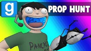 Gmod Prop Hunt Funny Moments Portal Map! Garry's Mod