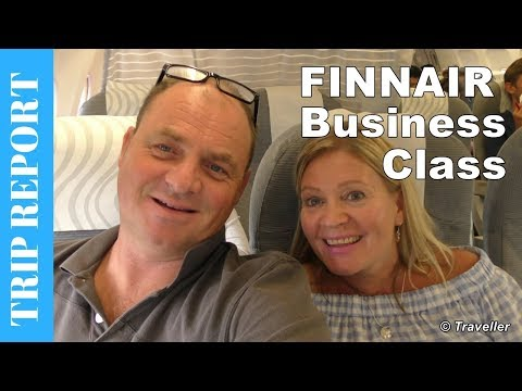 FINNAIR BUSINESS CLASS flight to Copenhagen - Airbus A320 Flight Review