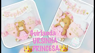 Guirlanda De Feltro Tema Ursinha Princesa