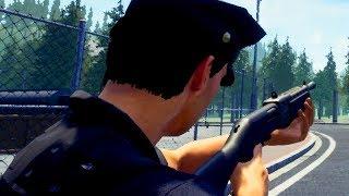 Schwere Waffen in der Spezialeinheit - Police Simulator Patrol Duty Gameplay German