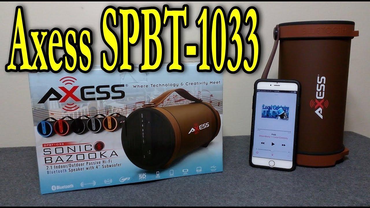 axess spbt1033 bluetooth speaker review [ 1280 x 720 Pixel ]