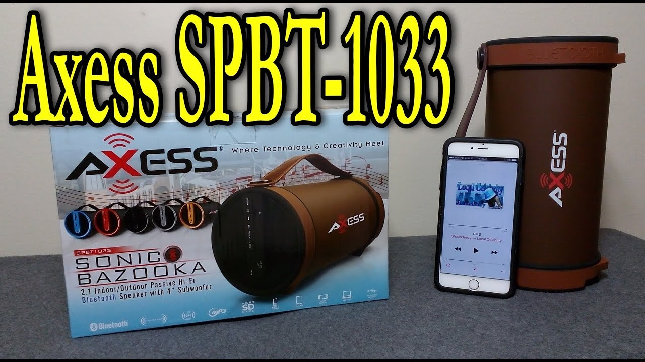 medium resolution of axess spbt1033 bluetooth speaker review