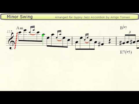 Minor Swing  Gypsy Jazz Accordion Sheet Music