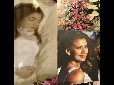 LOOK UP CLOSE ISABEL GRANADA'S ANGELIC FACE IN HER WAKE AND HER FIRST PUBLIC VIEWING!