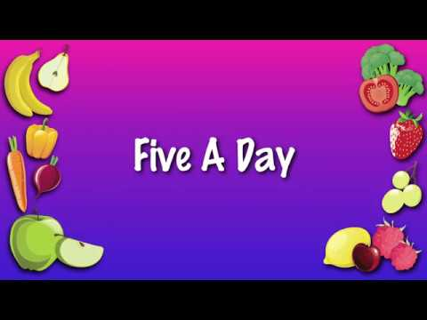 Five A Day (healthy eating)   KARAOKE VERSION   harvest song for schools, children, choirs