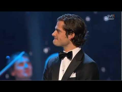 Prins Carl Philip håller tal på idrottsgalan 2012