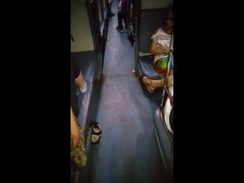 Night train in India