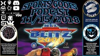 Sports Goofs - 11/15/2018: NFL Blitz 2000 *PLUS* NEW Marlins Logo Talk ⚾️🏈🏒🏀🎮