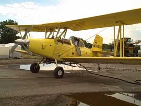Grumman Schweizer Super B Ag Cat Cold Start Takeoff