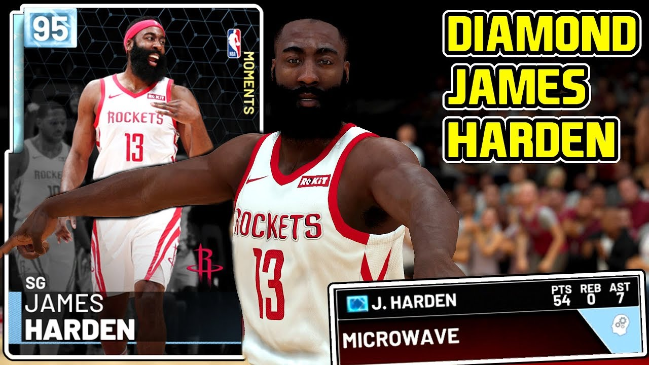 cd33188aab1 DIAMOND JAMES HARDEN 54PT GAMEPLAY! FEAR THE TAKEOVER BEARD! NBA ...