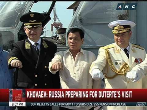 Duterte visits Russian Navy ship docked in Manila