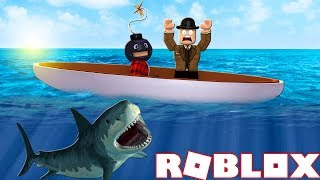 MRBOMBERMAN AND CALLUM PLAY ROBLOX SHARK BITE! Facecam! Bomber and Callum Collab!