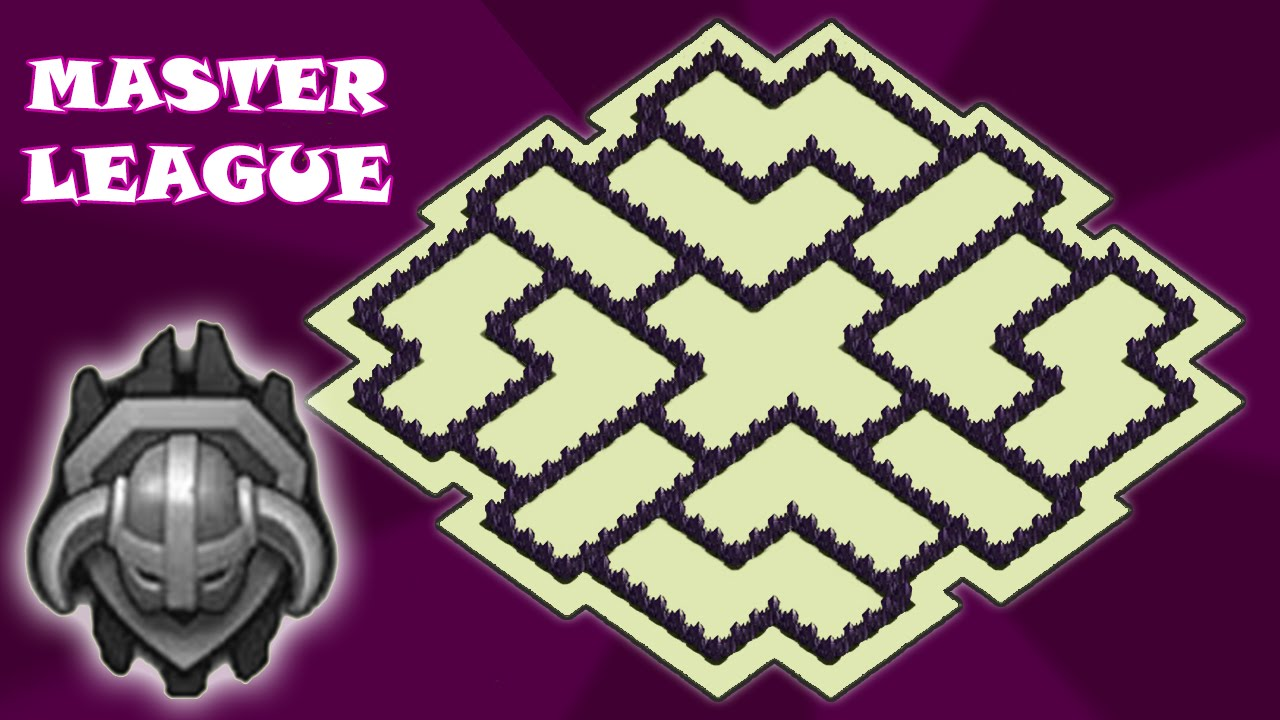 Clash of clans th9 hybrid base master league best base to