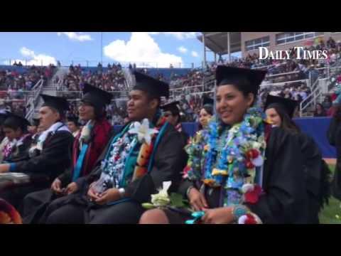 Navajo Preparatory School graduation ceremony at Ricketts Park in Farmington.