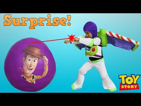 Disney Toy Story Super Giant Surprise Egg Toys Unboxing Buzz Lightyear Woody Jessie Ckn Toys |