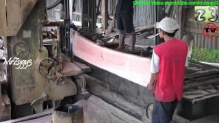 Wood Working Saw Mill Log Bandsaw Diesel Truck Powered