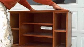 Trash To Treasure Tv Stand Part 1.wmv