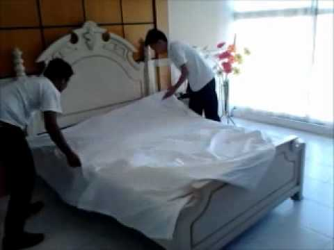 5 Star Hotel Bed Making Procedure Wmv Youtube