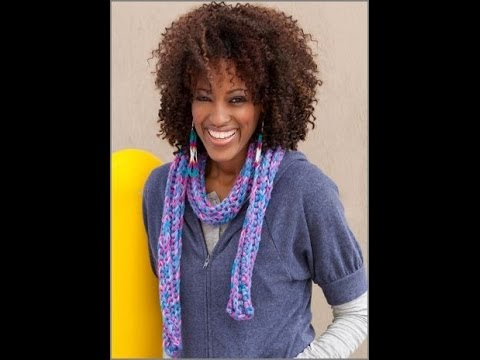 Crochet Colorful Corded Scarf - Red Heart Pattern LW2623 - YouTube