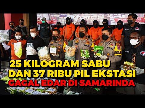 WOW!! 25 Kilogram Sabu dan 37 Ribu Pil Ekstasi Gagal Edar di Samarinda