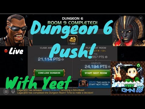 Dungeon 6 Push! YeetOS Live! - Marvel Contest Of Champions
