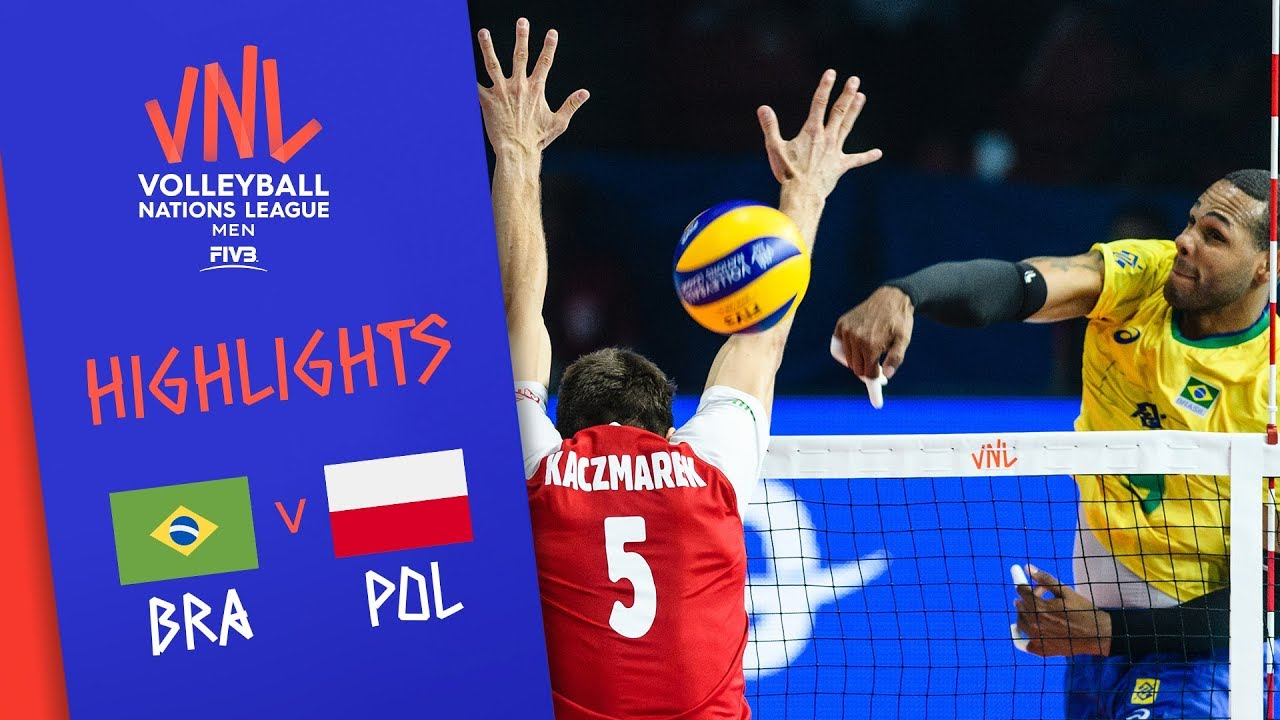 BRAZIL vs  POLAND - Highlights Men | 3rd Place | FIVB Volleyball Nations  League 2019