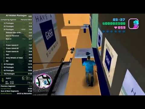 GTA:Vice City All Hidden Packages Speedrun In 29:07 [PB]