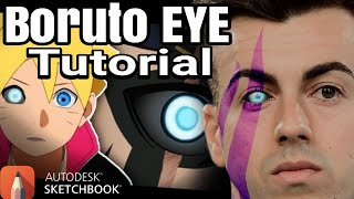 MATA BORUTO Illustration TUTORIAL  | AUTODESK SKETCHBOOK