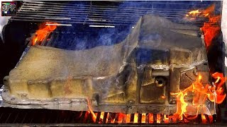 BURN IT WITH FIRE! BBQ Oil Pan Anyone? + Engine Paint Reveal   Blue Ghost S-10 Turbo Build