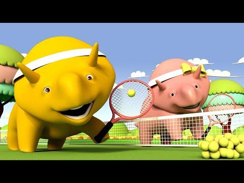 Invata Culorile - Joaca Tenis! - Dinozaurul Dino 👶 Desene Animate Educaţionale Pentru Copii