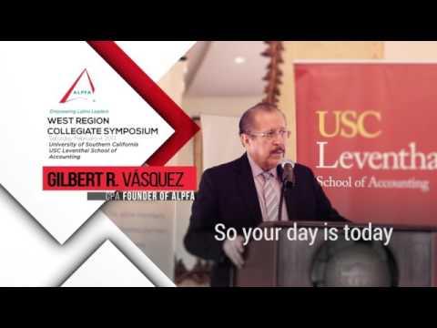 Gilbert R. Vasquez, Founder of ALPFA – West Regional Student Symposium