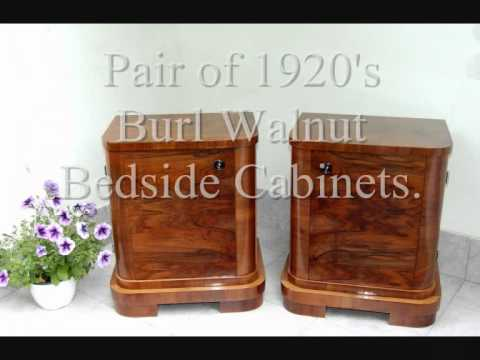 Art Deco Bedside Cabinets. Avaliable Now at 'Hungary4deco'