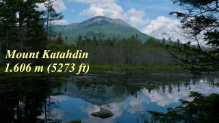 Wandern USA: Baxter SP in Maine Mt. Katahdin Saddle Trail