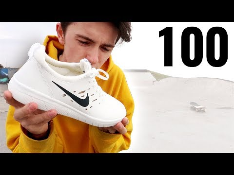 100 Kickflips In The Nike SB Nyjah Free!