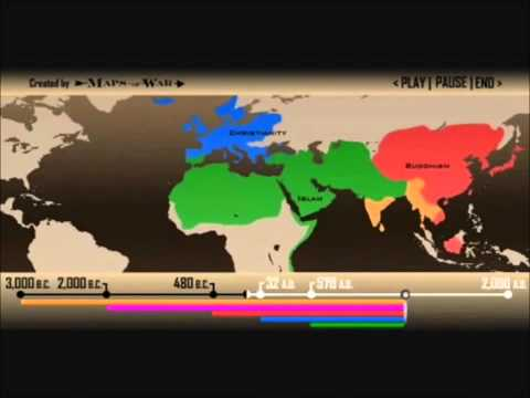 World Religions And Muslim Population 2012 (HD)