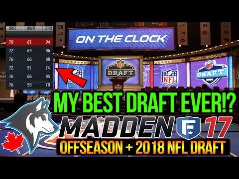GREATEST DRAFT EVER -- 2018 NFL Draft + Offseason | Madden 17 Toronto Huskies CFM | Ep. 22