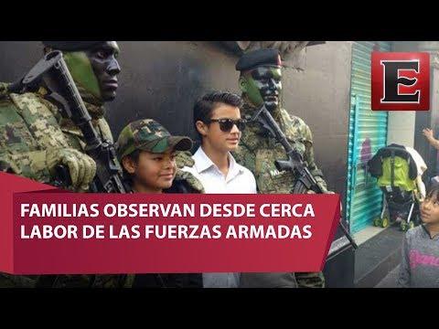 Fuerzas Armadas conviven con familias en Desfile Militar