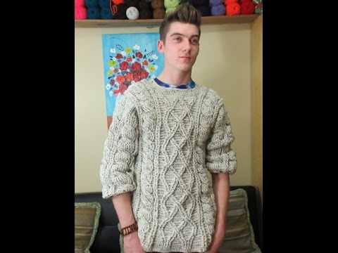 Crochet Men S Sweater Part 1 Of 3 With Ruby Stedman Youtube