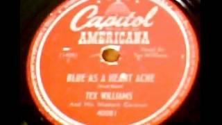 """Blue As A Heartache"" - Tex Williams & His Western Caravan (1948 Capitol Americana)"