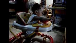 Baby Aj Inside His Modern Walker