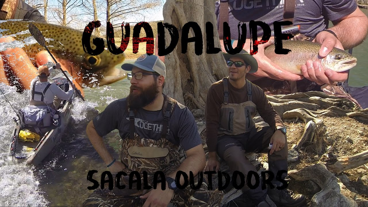 Guadalupe river trout fishing kayak rainbow trout texas for Guadalupe river fly fishing
