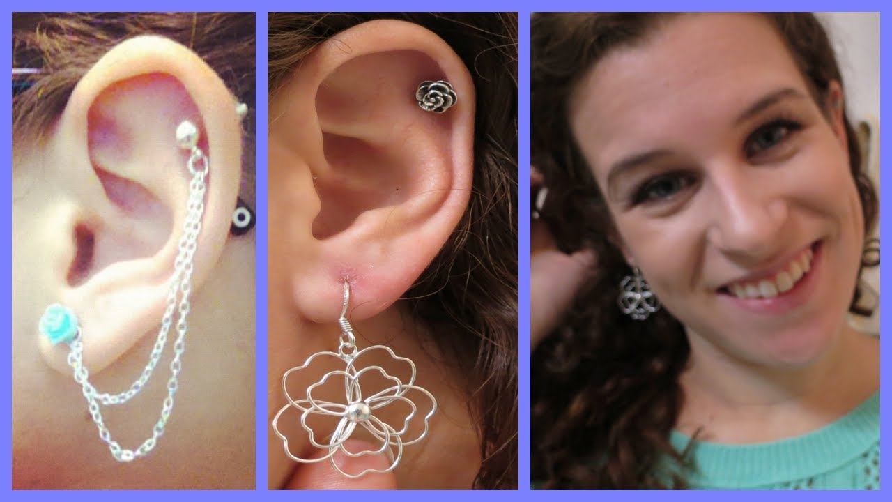 My Ear Piercings Advice Lobes Cartilage Youtube